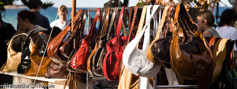 Handbags to go at Manly Beach markets
