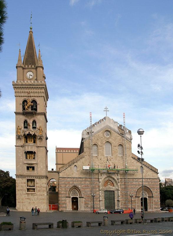 39259 - Cathedral & Clock tower at Messina