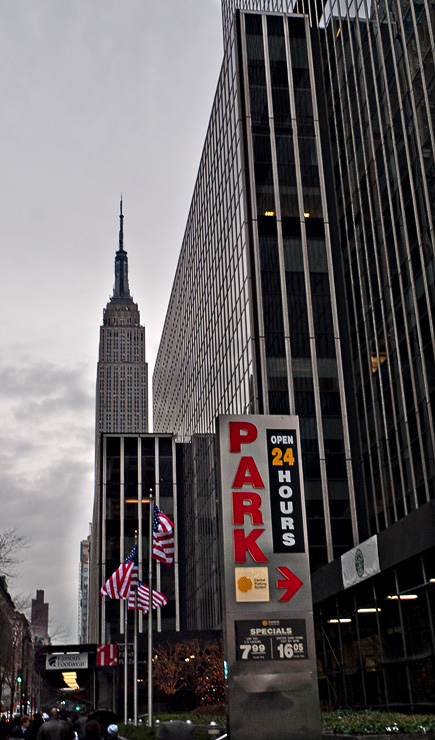 A wet day, W34th St. Looking East