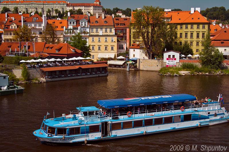 Vltava West Bank.,Little Venice, Prague