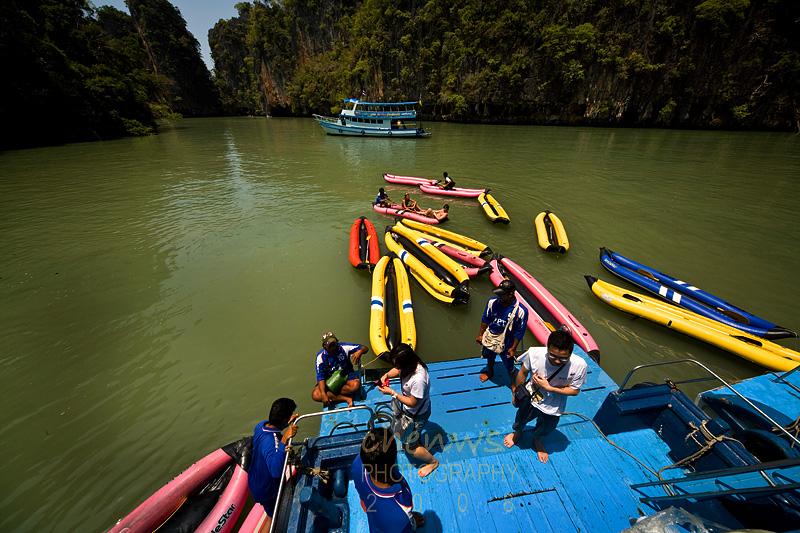 Canoes at Phang Nga bay