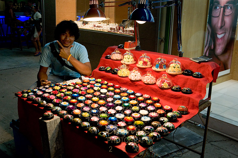 Pedlar selling crafted candles