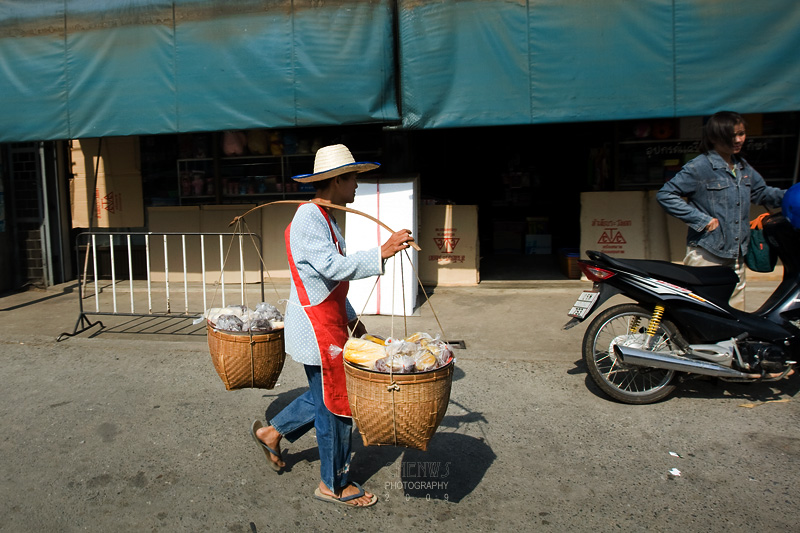 Street hawker on the streets in Chiang Mai