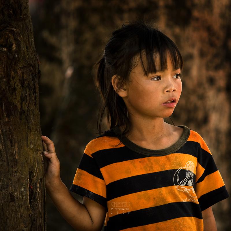 Pretty girl, Laos border town
