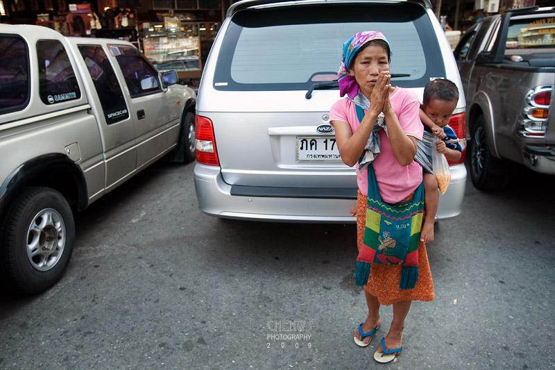 Beggar at the Thai-Myanmar border