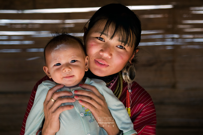 Karen mother and child