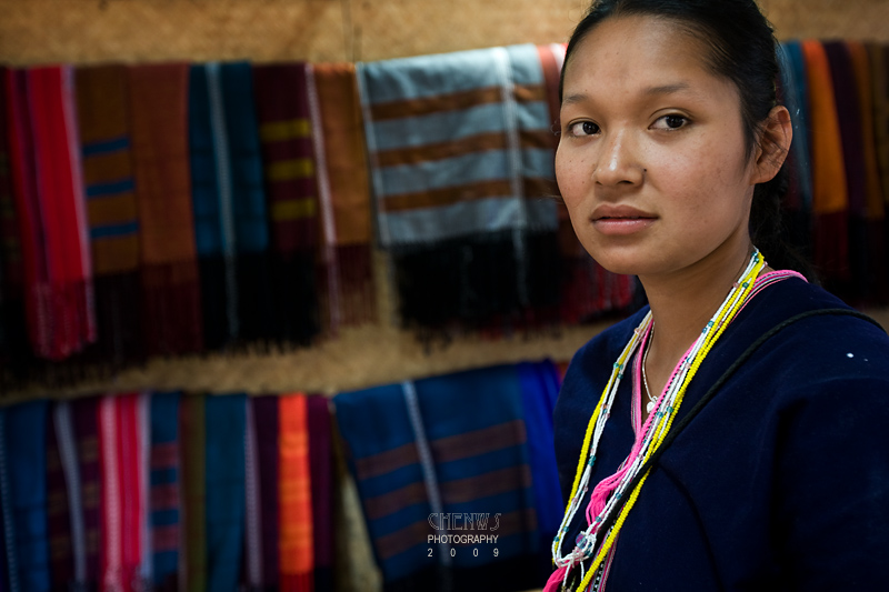 Portrait of Karen girl, Thailand
