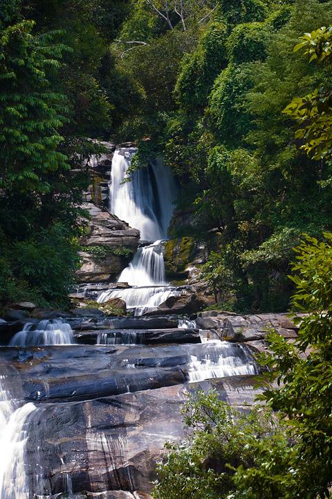 Sirithan waterfalls, Doi Inthanon National Park N18.5438 E98.5795 Elevation 879m