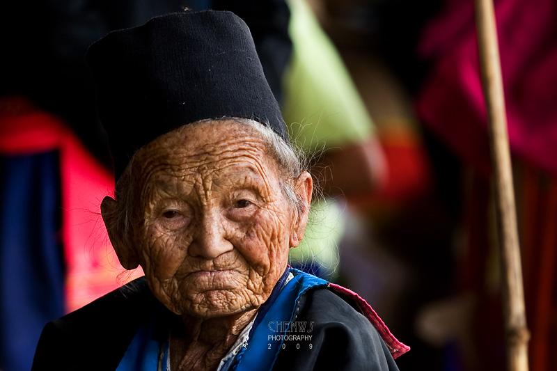 Elderly lady at the Hmong Market, Doi Inthanon National Park