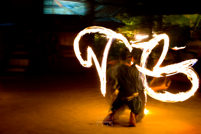 Fire sword dance