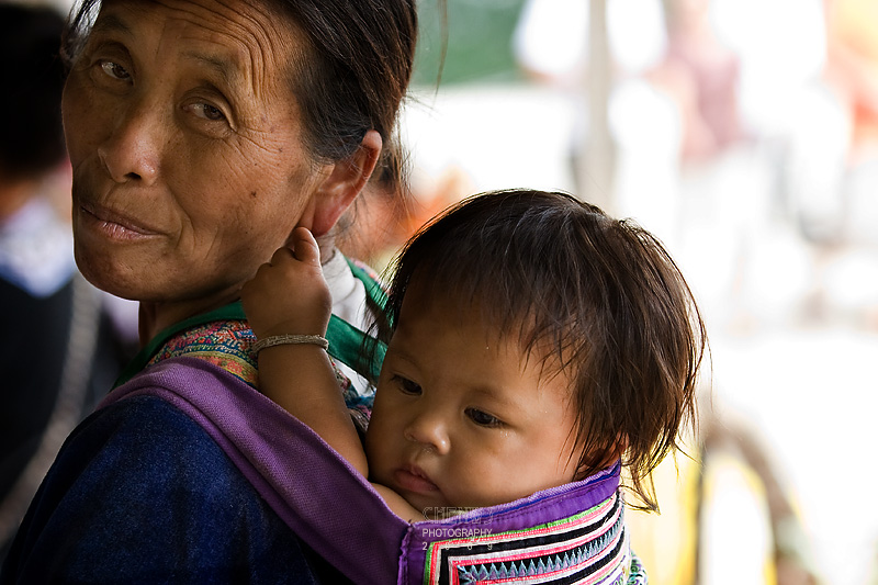 Hmong mother and child, Doi Inthanon Thailand