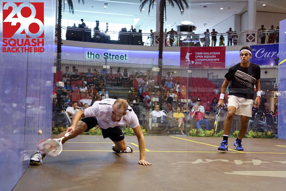 Mens semi-final: Nicolas Mueller vs Mohamed El Shorbagy