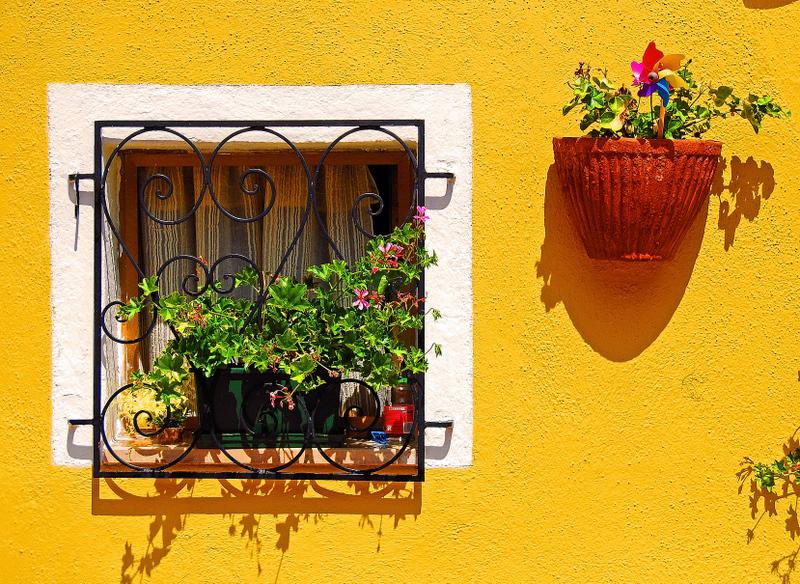 Square, Yellow, Asymmetrical
