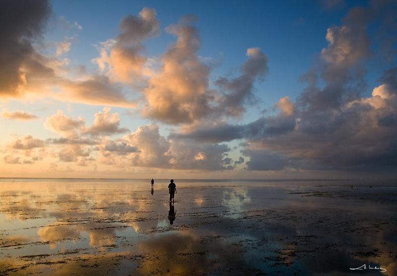 Kikambala beach before sunrise