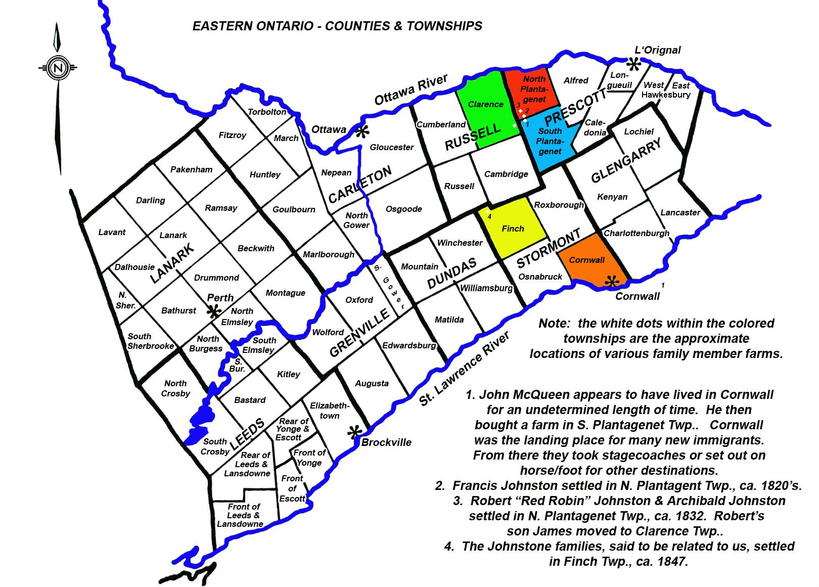 Map - Eastern Ontario Counties
