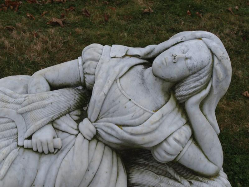 sleeping woman at Cheboque Point Cemetery - faranya