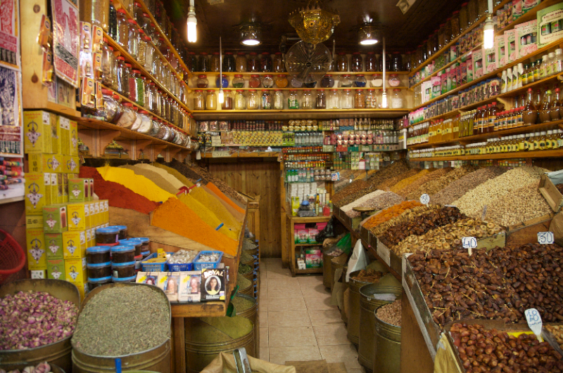 Souk, Spices, Fruit and  Nuts