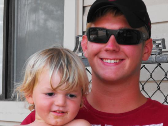 Connor and Koltin, one of the lifeguards at our apartment complex.
