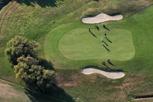 15 Green de golfe.