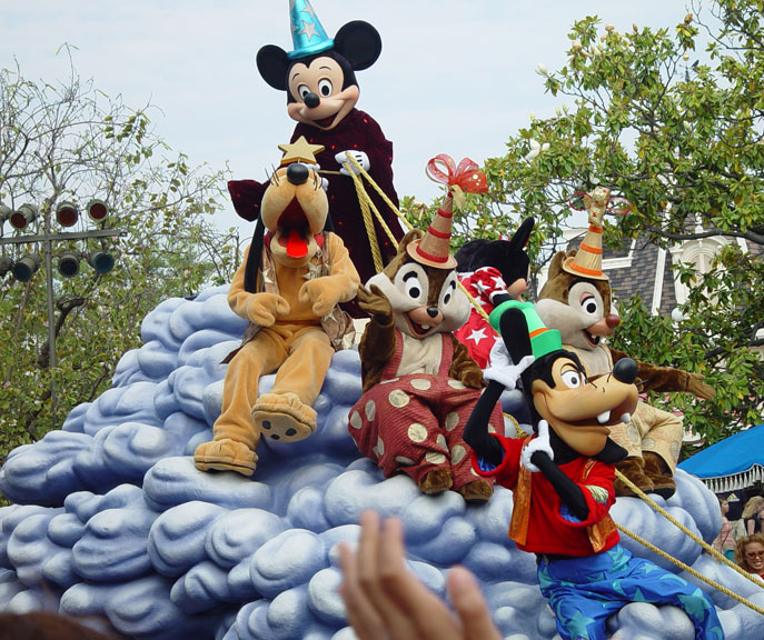 Musical Parade in Disneyland with friends from far and wide!