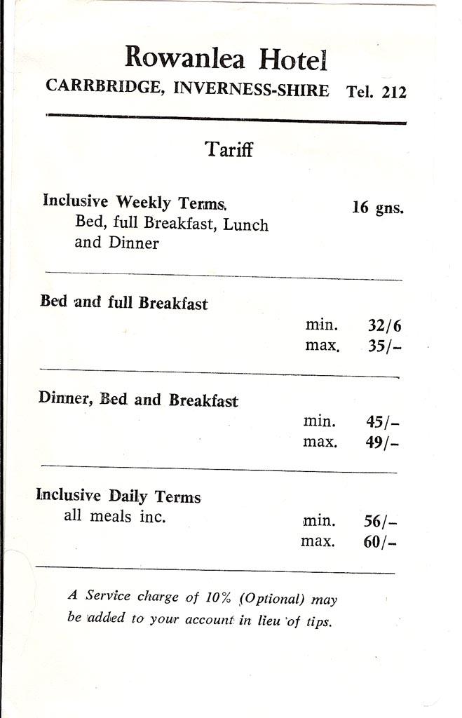 1960s Tarriff