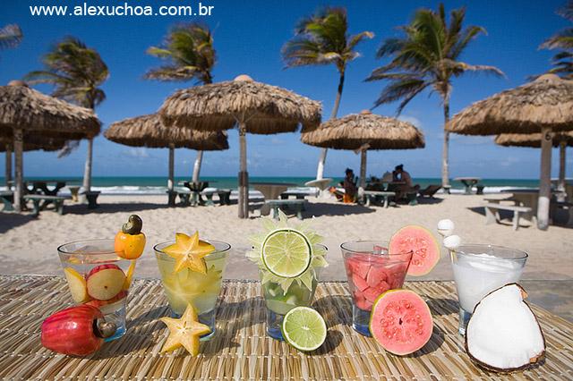 Deliciosas e refrescantes caipirinhas de frutas na Praia do Futuro, Fortaleza, Ceara 8675