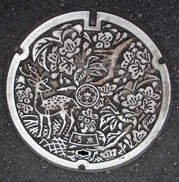 Even the manhole covers in Japan are beautiful!