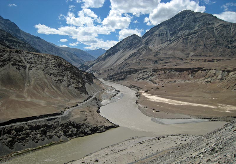 Confluence of Zanskar and Indus