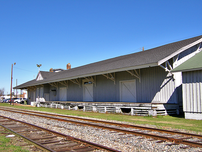 A trackside view of the station