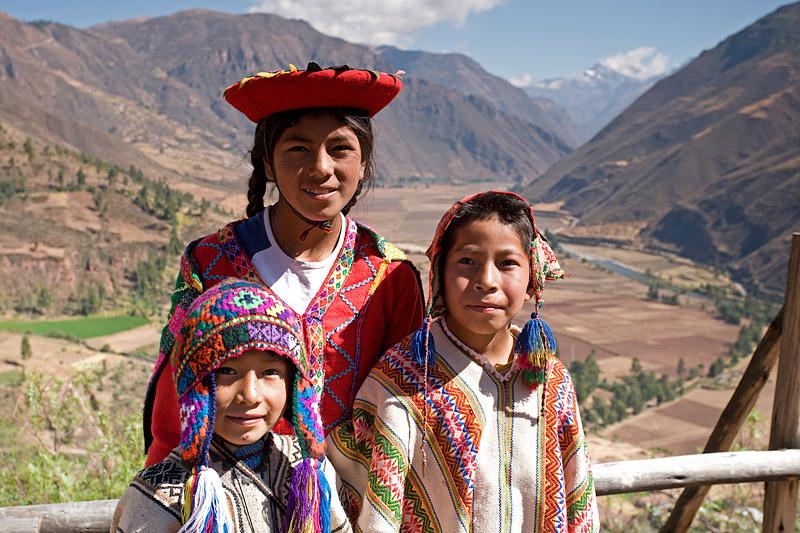 Urubamba Children in National Costumes