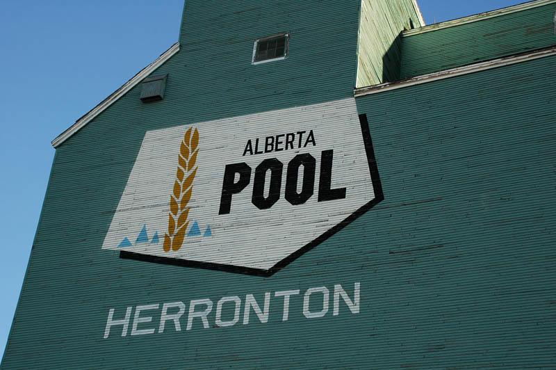 Alberta Wheat Pool logo-Herronton, AB elevator.