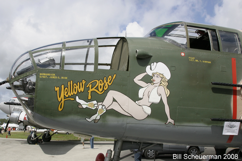 B-25 Yellow Rose