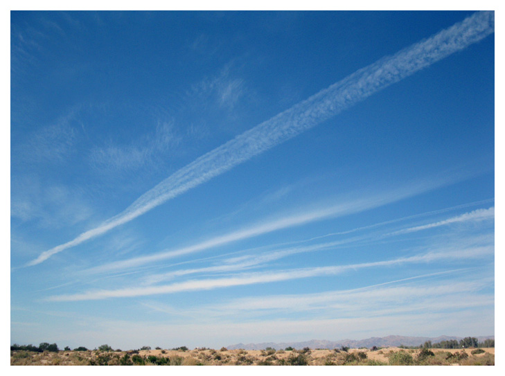 Chemtrails Spreading Out  More