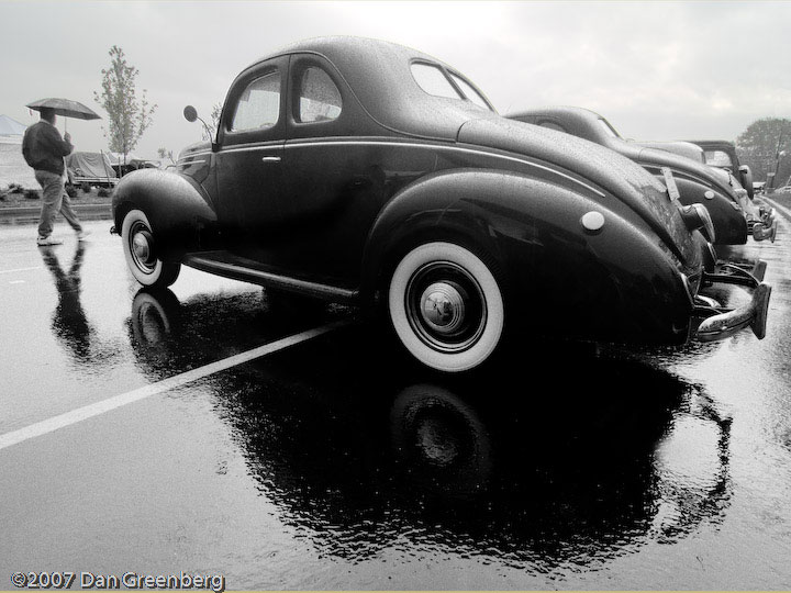 Fords in the rain, Hershey, PA