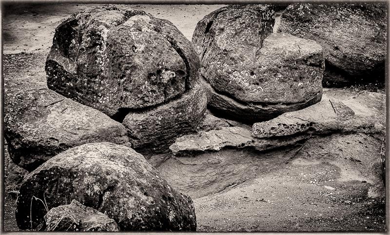 Rocks on beach, Craig Bay