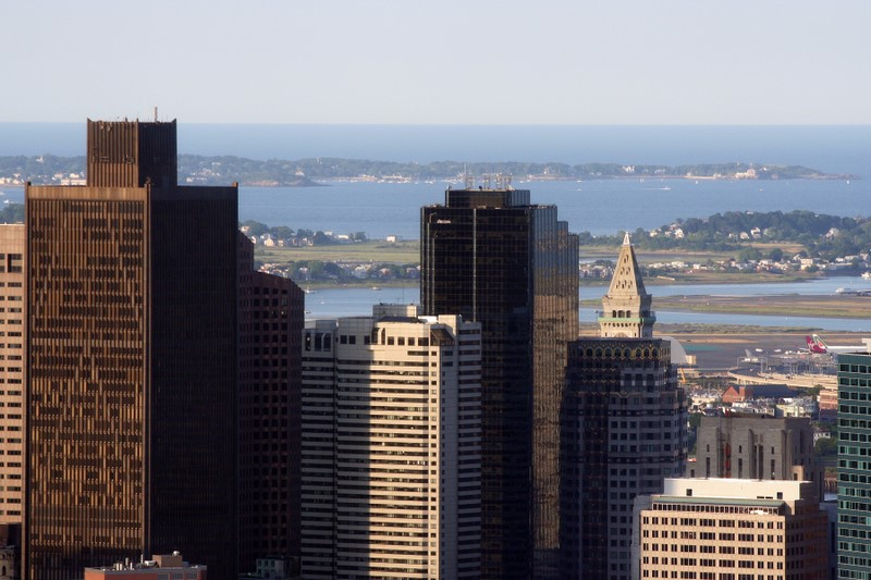 Aerial Photo of Bostons Financial District