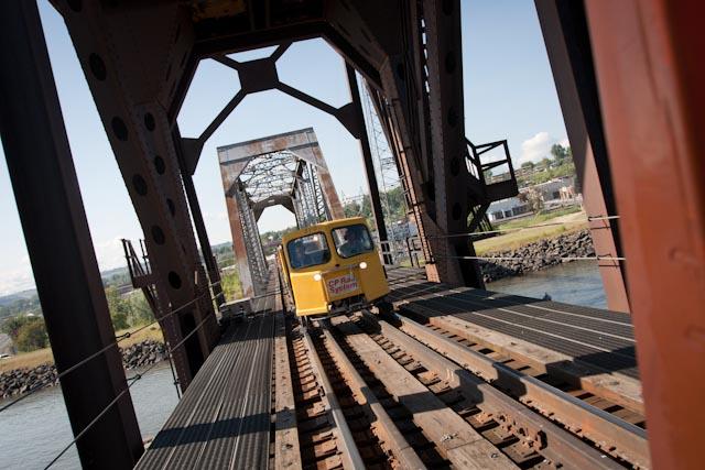 Rolling through the bridge