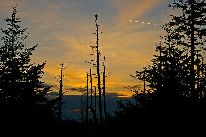 Sunset on Clingman Dome.