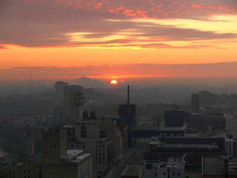 Sunrise over Mpls