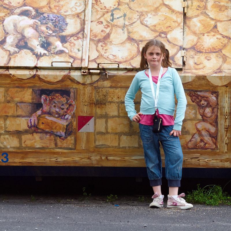 2011-06-02 Sandra in front of...