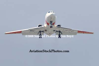 2008 - USCG HU-25C #CG-2117 on approach for fly-by at Opa-locka Executive Airport military aviation stock photo #2160