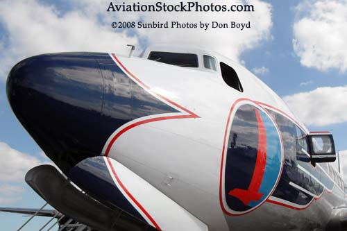 2008 - the Historical Flight Foundations restored Eastern Air Lines DC-7B N836D Open House stock photo #10049