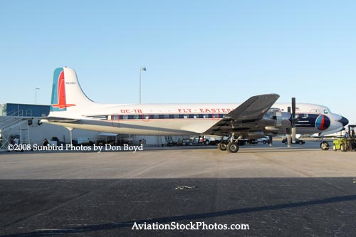2008 - the Historical Flight Foundations restored Eastern Air Lines DC-7B N836D aviation aircraft stock photo #10061