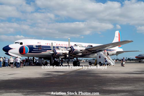 2008 - the Historical Flight Foundations restored Eastern Air Lines DC-7B N836D Open House aviation stock photo #1446