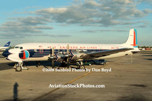 2008 - the Historical Flight Foundations restored Eastern Air Lines DC-7B N836D aviation aircraft stock photo #1467