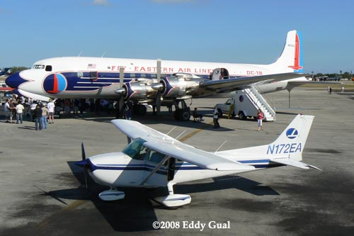2008 - a scene at the Historical Flight Foundations Open House for N836D at Opa-locka Executive Airport
