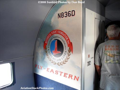 2008 - the left bulkhead on the Historical Flight Foundations restored DC-7B N836D stock photo #10020