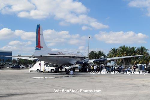 2008 - the left bulkhead on the Historical Flight Foundations restored DC-7B N836D stock photo #10030