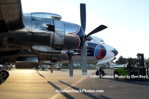 2008 - the Historical Flight Foundations restored DC-7B N836D aviation aircraft stock photo #10058