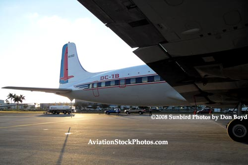 2008 - the Historical Flight Foundations restored DC-7B N836D aviation aircraft stock photo #10060